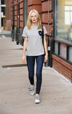 Kate Bosworth isn't just a fashion icon, she's also a bargain hunter, seen here in a pair of $50 Old Navy Jeans