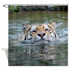 #Tiger 005 #Shower Curtain #JAMFoto #Cafepress