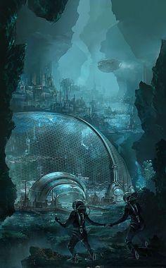 """""""In der Kuppe lebt... der Abschaum dieser Stadt."""" (...) Carissa runzelte die Stirn. """"Aber wieso denn? Ist es darin nicht sicherer?"""" Jonathan lachte. """"Die Kuppe lässt nur sehr gering Luft hinaus oder herein. Es stinkt wie die Pest, nach Abgasen der Schiffe, aber auch nach Menschen. Außerdem besteht das Ding aus Glas. Gerät die Stadt unter Beschuss, regnen Abermillionen Scherben hinunter auf die Menschen."""""""
