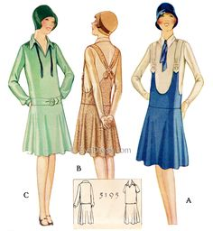 1927 McCall Frock 5195 now in multi-size.