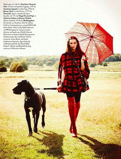 Love the cape. {fashion editorial : tartan & plaid and caledonia dreaming} by {this is glamorous}, via Flickr