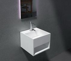 Flotte mattstone håndvaske i solid surface