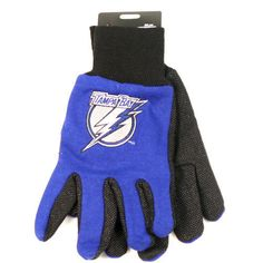 Tampa Bay Lightning Sport Utility Work Gloves #TampaBayLightning Visit our website for more: www.thesportszoneri.com