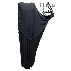 Plain abaya made from stretchy jersey material with fitted sleeves up untill the elbow which falls in to the wings. wear it with a plain or printed hijab or make it an evening dress by adding a head piece.