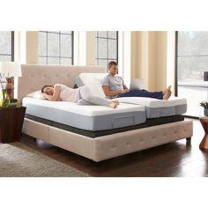 King Size Rest Rite Adjustable Foundation Base Bed Frame With Remote Control Black