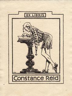 Ex-líbris Constance Reid | #exlibris