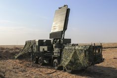 Russian 30N6E1 radar vehicle during CIS United Air Defense System Combat Commonwealth drills at the Ashuluk range, Astrakhan region, September 9, 2015