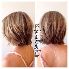 New Bob Haircuts 2019 & Bob Hairstyles 25 Bob Hair Trends for Women - Hairstyles Trends Thin Hair Cuts, Bobs For Thin Hair, Thinning Hair Cuts, Short Layered Haircuts, Short Bob Hairstyles, 1940s Hairstyles, Layered Bobs, Short Bobs, Short Layers