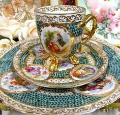 BEAUTIFUL DINNER PLATE SAUCER AND CUP