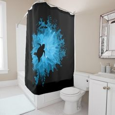 Unisex Turtle Coral Reef Silhouette Mens Womens Shower Curtain - Get lost in an oceanic world while you have a relaxing shower! This beautiful shower curtain features an upward view of a silhouette of a turtle and some fish swimming in a coral reef. It is unisex so it can be for men, women or teenage girls and boys.