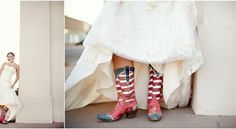 4th of July Wedding Theme Inspiration -- for that country wedding.  How unique!
