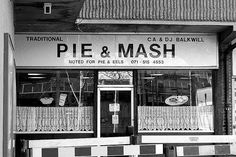 Pie and Mash A London favourite Jellied Eels, Directoire Knickers, Pie And Mash, London Street Photography, Pie Shop, British Invasion, Band Photos, Old London, London Calling