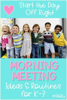 Find morning meeting ideas for greetings, sharing, activities, and messages. Grab a set of morning meeting slides to build social-emotional skills! Morning Meeting Kindergarten, Morning Meeting Activities, Kindergarten Class, Class Meetings, Morning Meetings, Morning Work, Social Emotional Learning, Social Skills, Morning Meeting Greetings