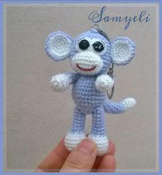 Maymun Anahtarlık TERİMLER: sh:sihirli halka *:tekrar sayısı x:sık iğne ss:iplik kaydırma v: artırma A: azaltma . Crochet Monkey, Crochet Bear, Crochet Animals, Crochet Toys, Free Crochet, Amigurumi Patterns, Crochet Patterns, Monkey Pattern, Crochet Keychain