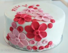 Birthday cake with buttons