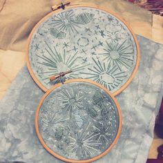 #embroidery #moon #tapestryhoop