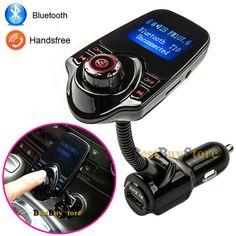 2017 새로운 블루투스 자동차 키트 핸즈프리 세트 FM 송신기 MP3 음악 플레이어 5 볼트 2.1A USB 자동차 충전기, 지원 micro sd 카드 1 그램-32 그램