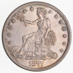 1877-S Seated Liberty Silver Trade Dollar- Not Circulated