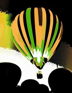 Stripe Balloon 8 by Patty Vicknair in OriginalDigitalArt on Patty Sue O'Hair Vicknair = PSOVART's Store