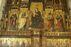 Polittico di Antonio de Saliba  a Castelbuono (Palermo) Chiesa Maria SS. Assunta - Matrice Vecchia La Pala è stato attribuito prima al De Saliba, (nipote del pittore  Antonello  da Messina) e più recentemente a  Pietro Ruzzolone.
