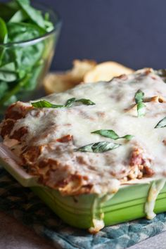 Turkey Lasagna with Spinach & Mushrooms