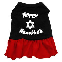 Mirage Pet Products 12-Inch Happy Hanukkah Screen Print Dress >>> Review more details here : dog clothes
