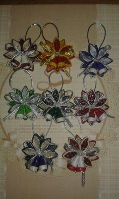 Ornamente colorate craciun by quilling catalina