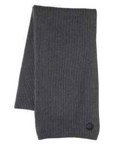 DSQUARED2 MAPLE LEAF PATCH WOOL SCARF, GREY. #dsquared2 #scarves & wraps