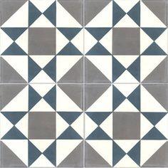carreau de ciment sol et mur bleu et blanc palmette x cm cuisine pinterest. Black Bedroom Furniture Sets. Home Design Ideas
