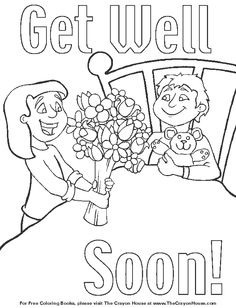 coloring pages i hope you feel better | Get well soon card ...