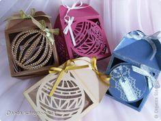 Вырезание - Новогодние подарочные коробочки шаблоны