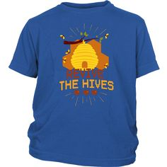 Noah Loaded The Bees In The Ark-Hives Funny Animal Pun Decal Choose Color V and T Gifts