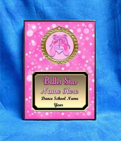 Perfect award for little dancers, dance schools or dance instructors. Customized with your name and text.  US $10.99 New other (see details) in Home & Garden, Home Décor, Plaques & Signs