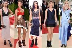 Met Gala 2016 Hits: Selena Gomez, Alicia Vikander, Jennifer Connelly, Michelle Williams and Grimes, all in Louis Vuitton boots.