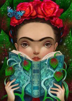 Lisa Falzon,or Meluseena; Illustrations, Illustration Art, Diego Rivera Art, Kahlo Paintings, Frida Art, Pop Surrealism, Mexican Folk Art, Animal Quotes, Painting For Kids