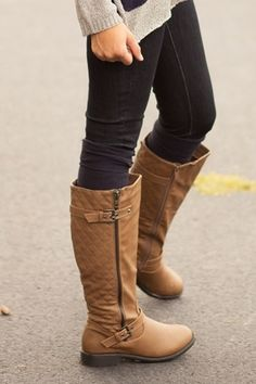 LOVE TO BOOTS MUST BE WIDE LEG  Hampton Buckle Riding Boots - My Sisters Closet