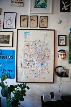 Frank Höhne — Illustrator, Apartment, Berlin-Kreuzberg. #frame #frames