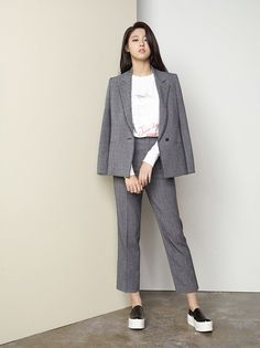 AOA's Seolhyun and Actor Joo Won Endorse Fashion Brand 'Mind Bridge' Office Fashion, Work Fashion, Fashion Brand, Fashion Outfits, Womens Fashion, Blazer Outfits For Women, Casual Work Outfits, Business Casual Outfits, Korean Fashion Trends