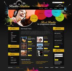 Radio FM Joomla Template by Dynamic Template