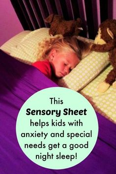 This sensory sheet helps my children sleep at night without fidgeting or anxiety. Repinned by SOS Inc. Resources pinterest.com/sostherapy/.