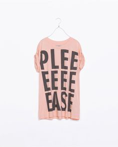 Love this: Cuffed Tshirt with Text @Lyst