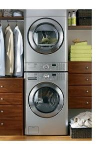 What a good idea...washer and dryer in the closet!