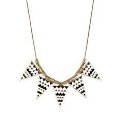 Fab.com | Triangle Geo Enamel Necklace
