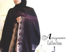 Lux Mink Lace Detail Open Abaya With Wide Sleeves- Sizes Available