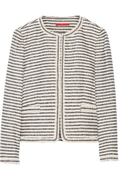 ALICE + OLIVIA Kidman metallic cotton-blend tweed jacket