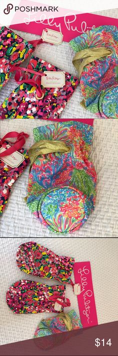 Lilly Pulitzer wine tote or wristlet NWT These adorable Lilly Pulitzer accessories are wine bottle totes and are great hostess gifts. But I think they are great wristlets or makeup caddies. New with tags. 3 in stock. Lilly Pulitzer Other