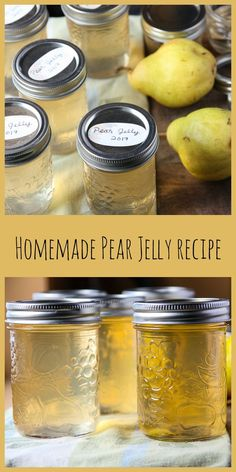 Homemade Pear Jelly is easy to make and a delicious and versatile condiment for glazing roast meats and veggies, a base for Asian dipping sauces, or just for toast or pancakes. Pear Jelly Recipes Easy, Pear Recipes To Can, Carne Asada, Salsa Dulce, Pear Jam, Homemade Jelly, Homemade Recipe, Jam And Jelly, Jelly Jelly
