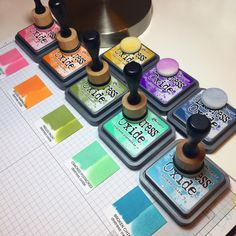 This week I've been playing with some new goodies -- Tim Holtz's new Distress Oxide inks! (Ellen Hutson just received a new shipment today, so get them while you can HERE! If they happen to disappear