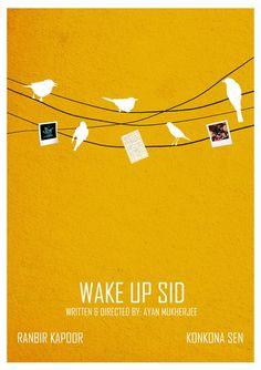 Wake up Sid minimalistic poster Iconic Movie Posters, Minimal Movie Posters, Minimal Poster, Movie Poster Art, Iconic Movies, Quote Posters, Bollywood Posters, Bollywood Quotes, Wake Up Sid