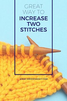 Double increase that matches double vertical decrease. This increase is fairly simple, and it creates a lovely chain of stitches at the centre of the. Knitting Increase, Knitting Help, Knitting Blogs, Knitting For Kids, Easy Knitting, Knitting For Beginners, Knitting Projects, Knitting Tutorials, Sock Knitting